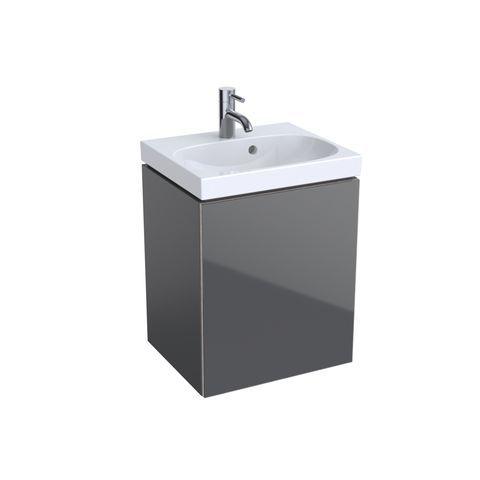 Geberit Keramag Acanto Handwaschbecken-Unterschrank B:44,6 x H:53,4 x T:37,6 cm Korpus: lava matt, Front: Glas lava 500608JK2