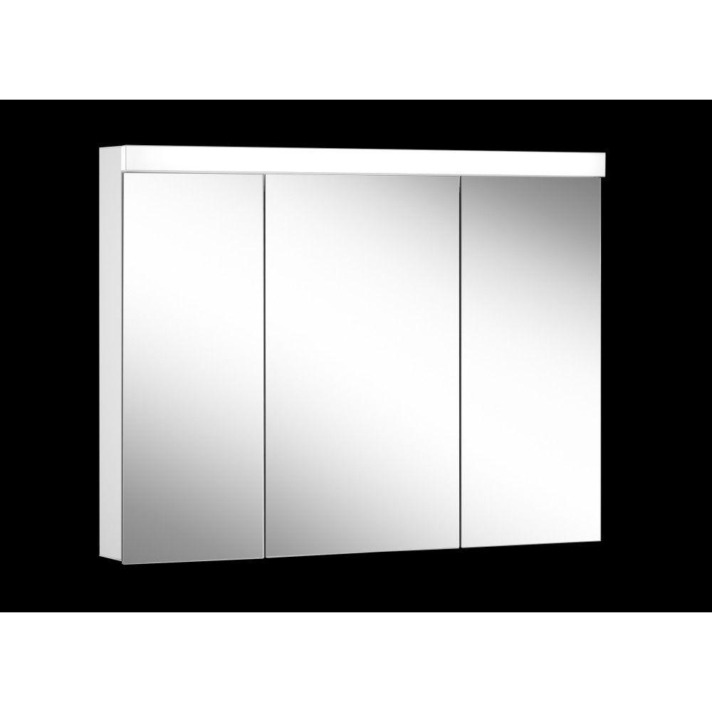 Schneider Spiegelschrank LOWLINE Plus 100/3/LED B:100xH:74,8xT:12cm mit Beleuchtung weiß 172.101.02.0201