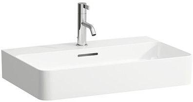 Laufen VAL Aufsatzwaschtisch mit einem Hahnloch mit Überlauf Unterseite geschliffen B:65xT:42cm weiß mit CleanCoat LCC H8162844001041