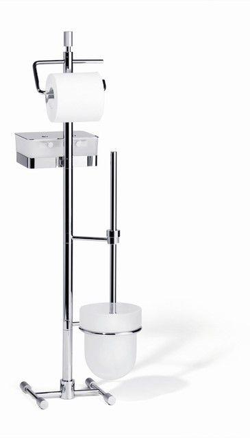 Giese Von der Rolle WC Ständer mit Bürstengarnitur Kristallglas und chrom 15739-02