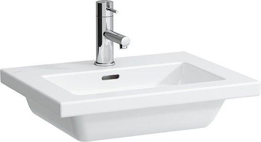 Laufen Living Square Handwaschbecken mit einem Hahnloch mit Überlauf B:50xT:38cm weiß H8154340001041