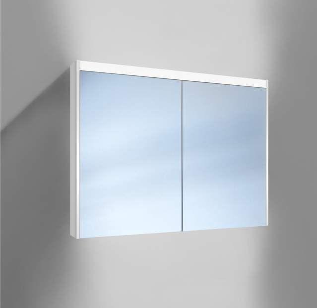 Schneider O-Line LED Spiegelschrank B:100xH:74,5xT:12,8cm 2 Türen weiß 164.100.02.02