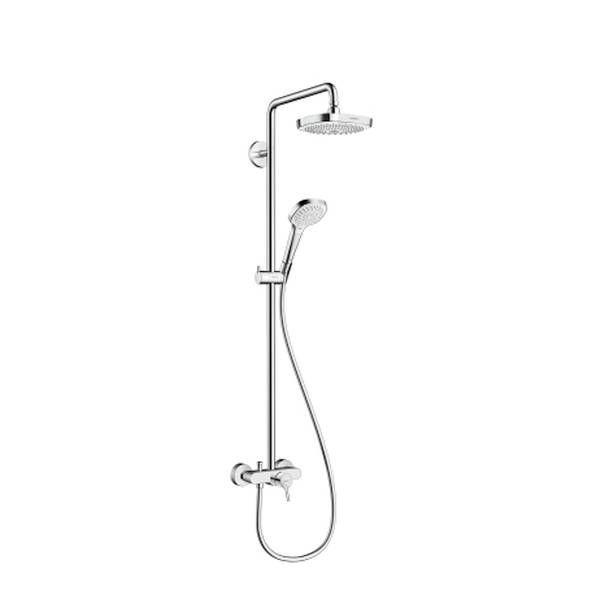 Hansgrohe Croma Select E 180 2jet Showerpipe mit Einhebelmischer weiß chrom 27258400