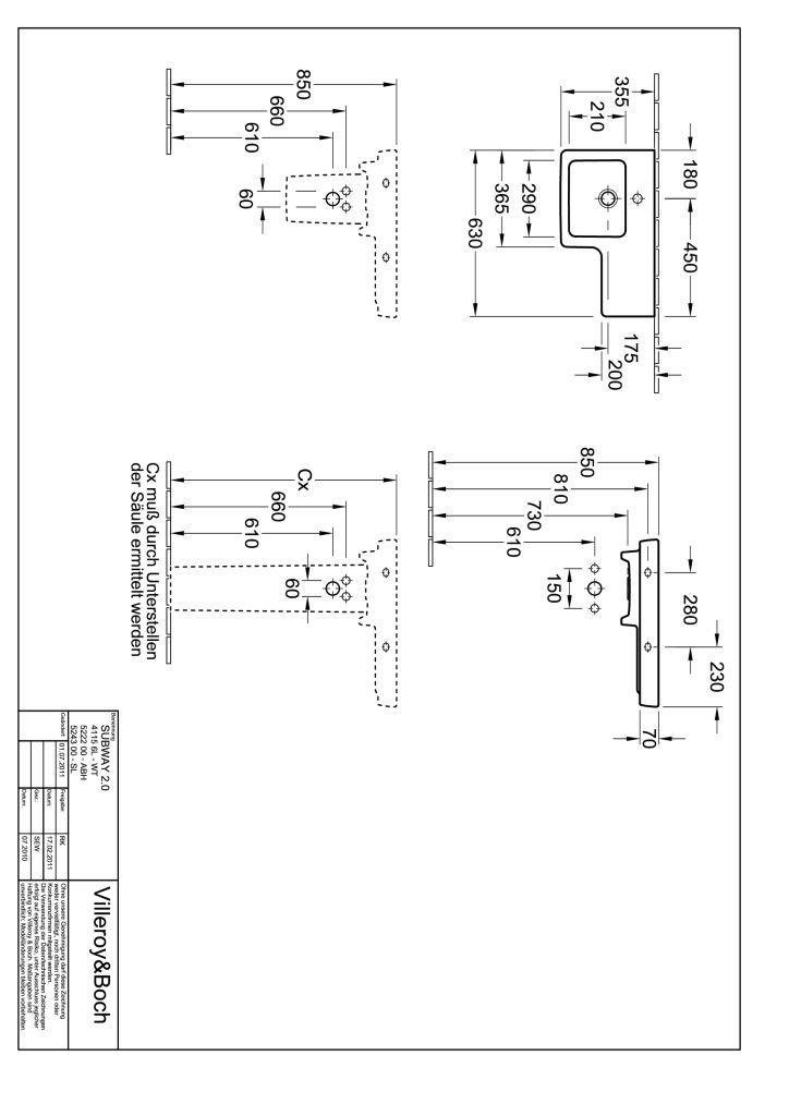 Villeroy & Boch Subway 2.0 Ablaufhaube Pergamon 522200R3