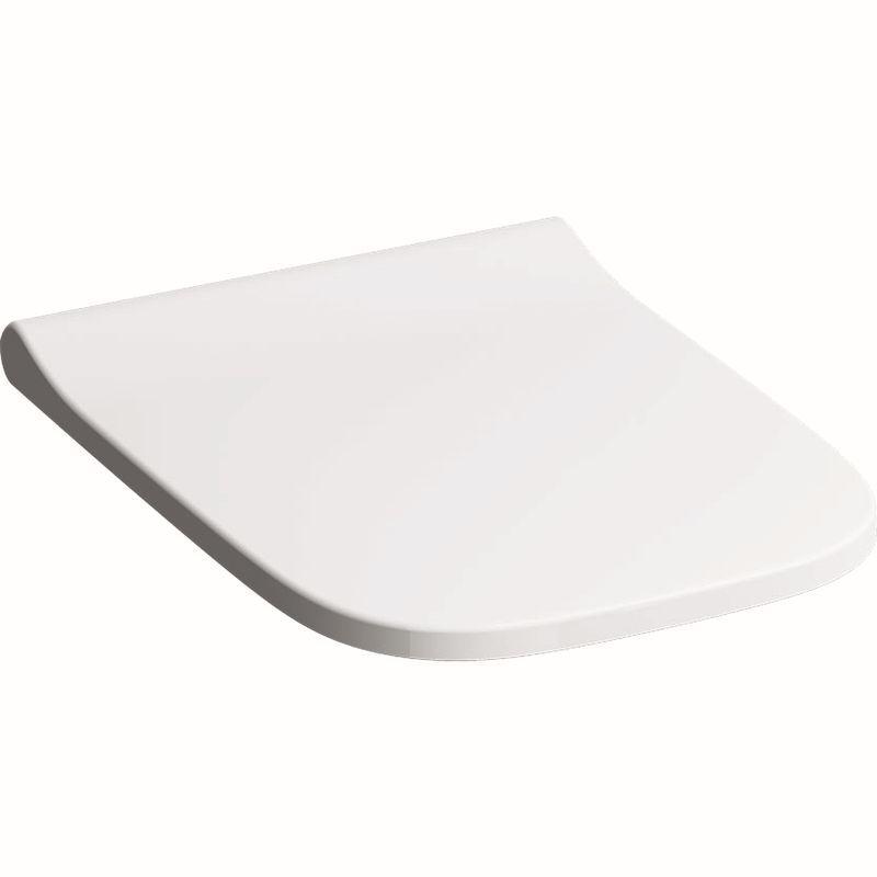 Geberit Smyle Square WC-Sitz schmales Design mit Absenkautomatik mit Quick Release weiß 500687011