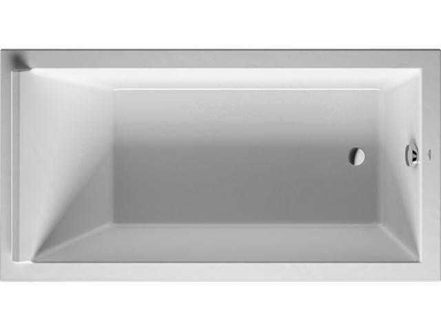 Duravit Starck Rechteck-Badewanne B:90xL:170cm Einbauversion mit 1 Rückenschräge weiß 700337000000000