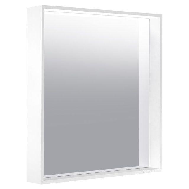 Keuco X-LINE LED-Lichtspiegel warmweiß B:65xH:70xT:10,5 cm weiß seidenmatt weiß seidenmatt 33296302000