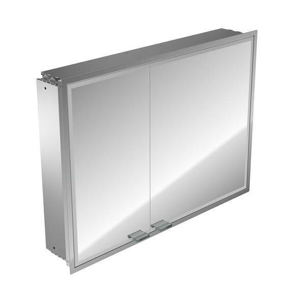 Emco Asis Prestige Lichtspiegelschrank ohne Radio 989706024, Unterputz, Breite 1015 mm, breite Tür rechts