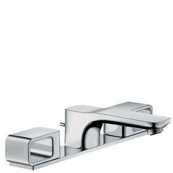 Hansgrohe Axor Urquiola 11040000 3-Loch Waschtischarmatur Standmodell mit Platte chrom