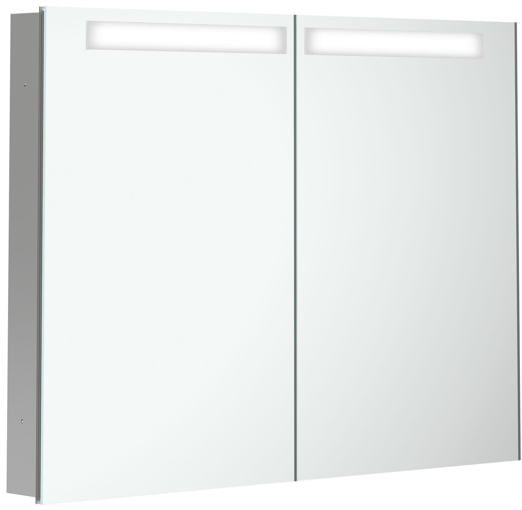 Villeroy & Boch My View In Spiegelschrank mit LED Beleuchtung B:80,1xH:74,7xT:10,7cm A4358000