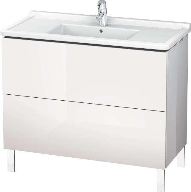 Duravit L-Cube Waschtischunterschrank stehend B:102xH:71,2xT:46,9 cm mit 2 Auszügen weiß hochglanz LC661008585