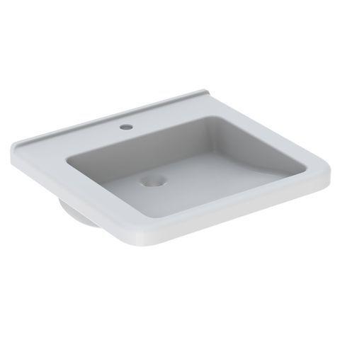 Geberit Keramag Renova Comfort Waschtisch B:60xT:55cm 1 Hahnloch ohne Überlauf unterfahrbar weiß 128662000