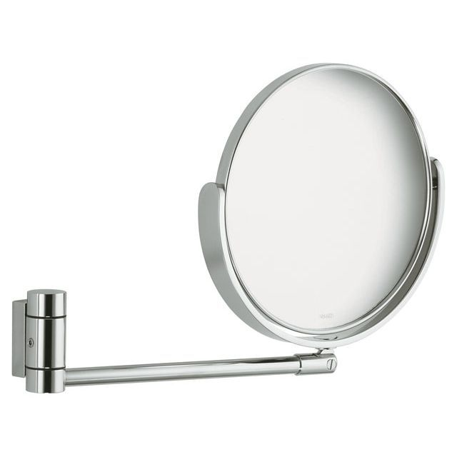 Keuco Plan Kosmetikspiegel Gelenkarm ohne Beleuchtung silber eloxiert (E6 EV1) 17649170000