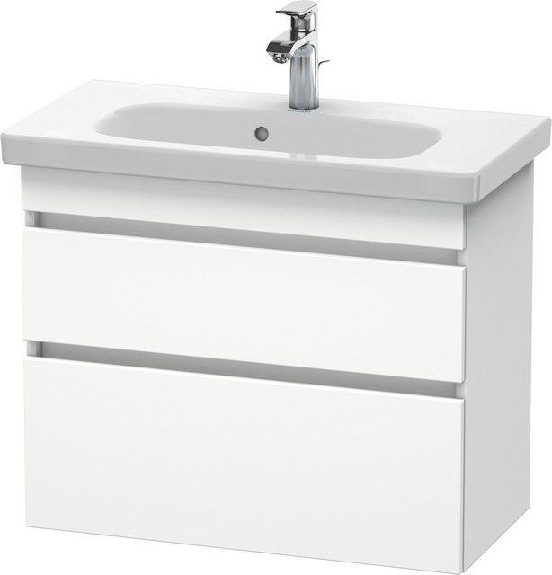 Duravit DuraStyle Waschtischunterschrank wandhängend B:73xH:61xT:35 cm mit 2 Schubkästen weiß matt DS649901818