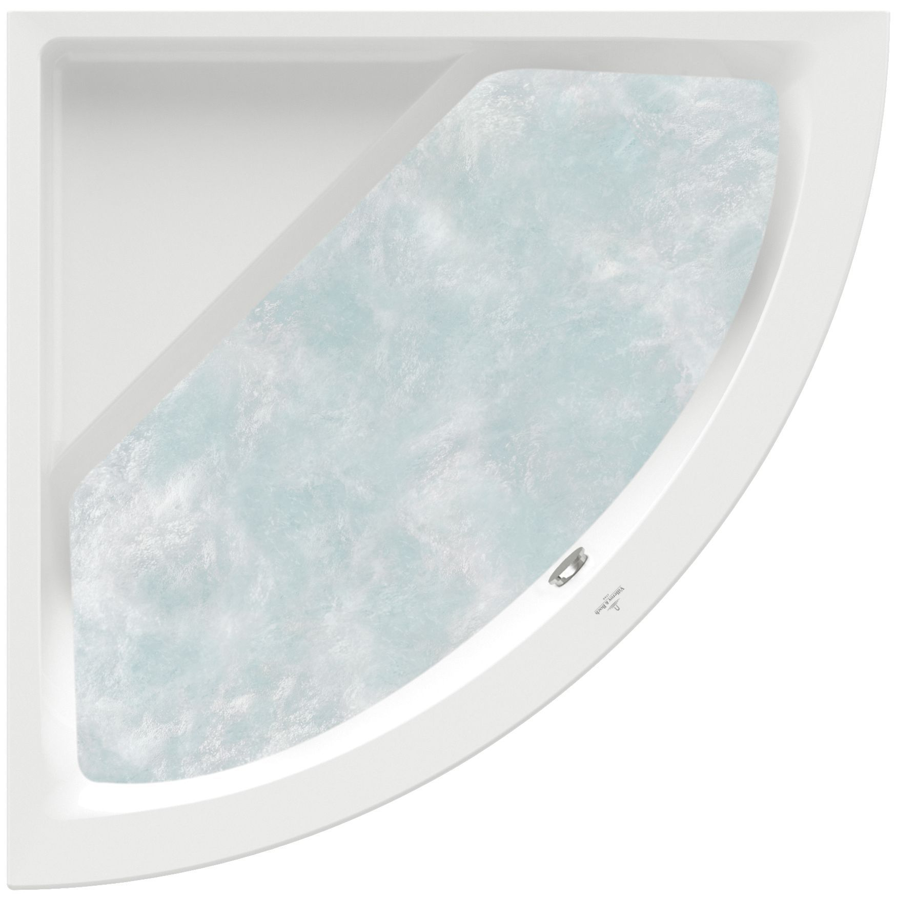 Villeroy & Boch Subway Eck-Badewanne Technik Position 1 L:130xB:130xcm weiß UCC130SUB3A1V01