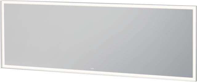 Duravit L-Cube Spiegel mit Beleuchtung B:200xH:70xT:6,7cm weiß matt gepulvert LC738700000