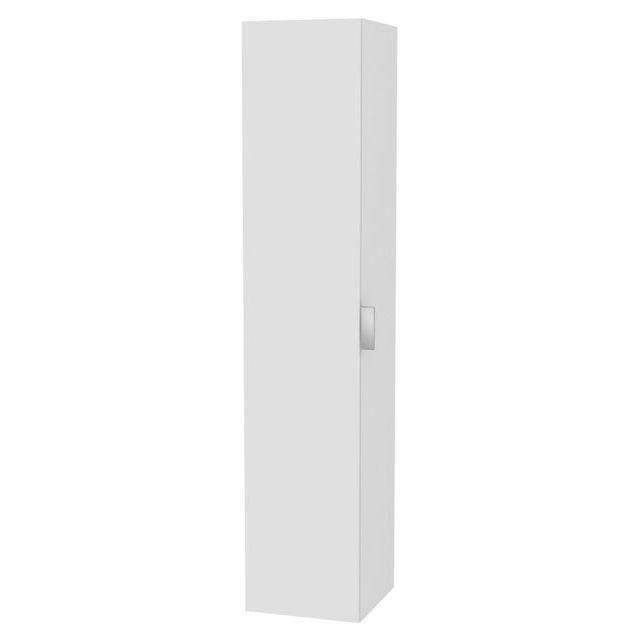 Keuco Edition 11 Hochschrank 1-türig Anschlag links weiß/Glas weiß 31330300001