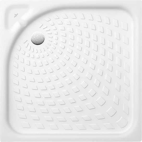 Villeroy & Boch Omnia classic Duschwanne 62158001 H: 65 B: 800 L: 800 weiß Ablauf 90 mm Durchmesser ohne Antirutsch