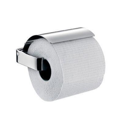 Emco Loft Papierhalter 050001600, mit Deckel, edelstahl-optik