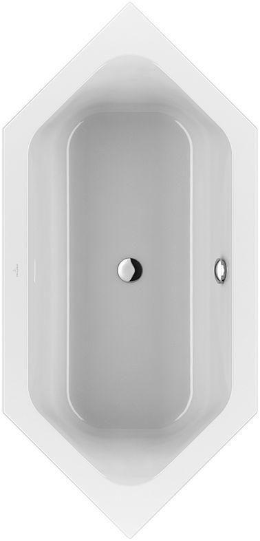 Villeroy & Boch Loop & Friends Duo Sechseck-Badewanne UBA199LFS6V-01 900x1900mm weiß mit ovaler Innenform