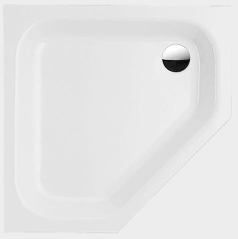 Bette Caro Fünfeck Duschwanne L:100xB:100xT:3,5cm ohne Schürze weiß mit BetteGlasur Plus 7219-000PLUS