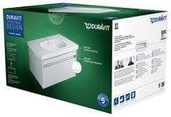 Duravit Ketho Möbelset: Waschtischunterschrank Ketho B:80xH:41xT:45,5 cm und Möbelwaschtisch B:85 cm weiß hochglanz KT006302222