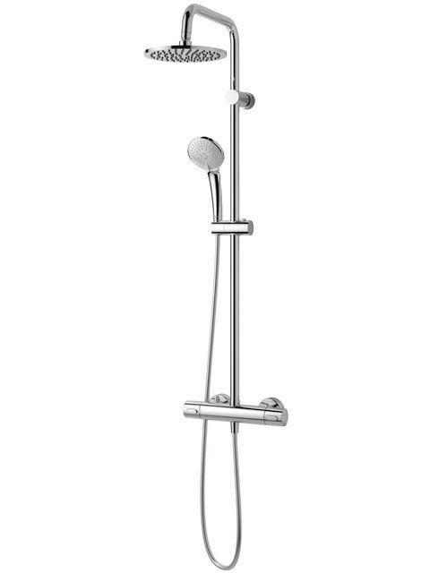 Ideal Standard Ceratherm 100 New Duschsystem M mit Brausethermostat Aufputz schwenkbar chrom A6272AA