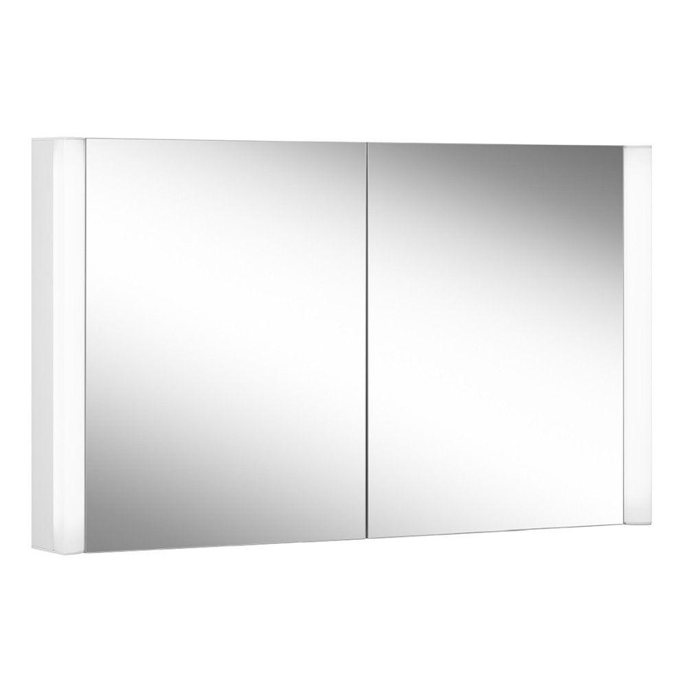Schneider Spiegelschrank EASY Line Superior 100/2/LED B:100xH:70xT:12cm mit Beleuchtung weiß 175.100.02.0201