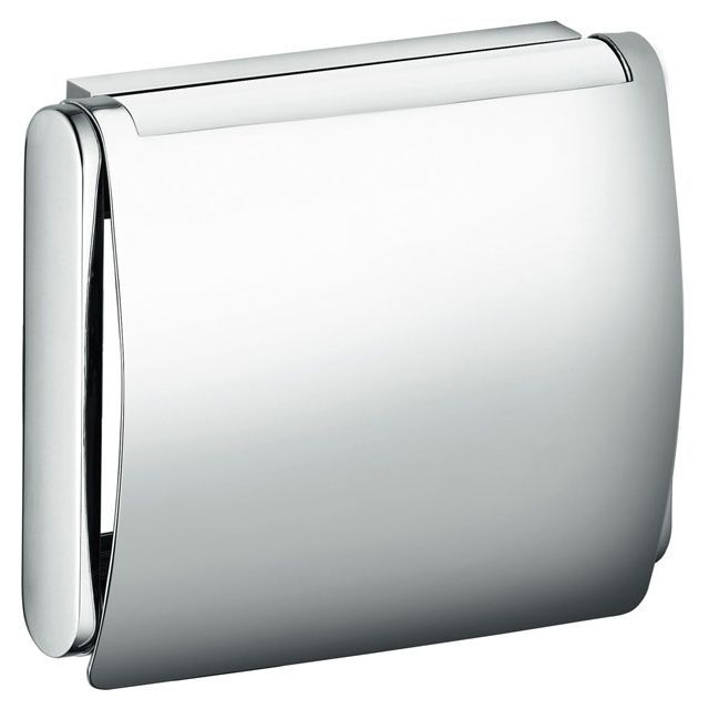 Keuco Plan Toilettenpapierhalter mit Deckel silber eloxiert 14960170000