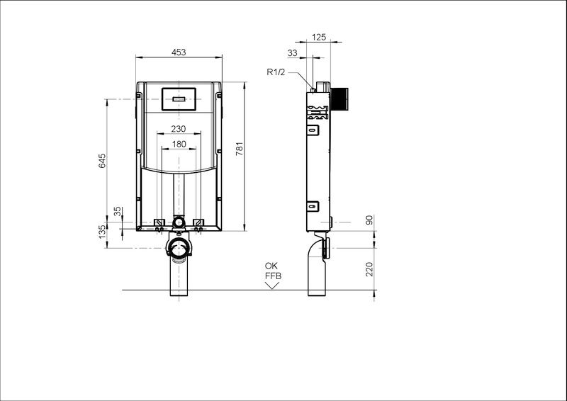 Villeroy & Boch ViConnect WC-Montageelement B:45,3xH:78,1xT:12,5cm 92247900
