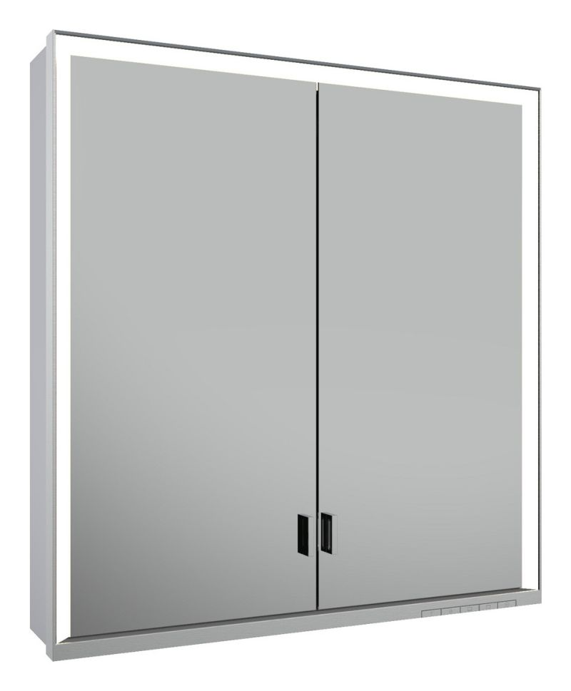Keuco Lumos Spiegelschrank 14307 ohne Ablagefach, Vorbau, DALI, H:73,5,B:70,T:16,5cm, silber eloxiert, 14307172303