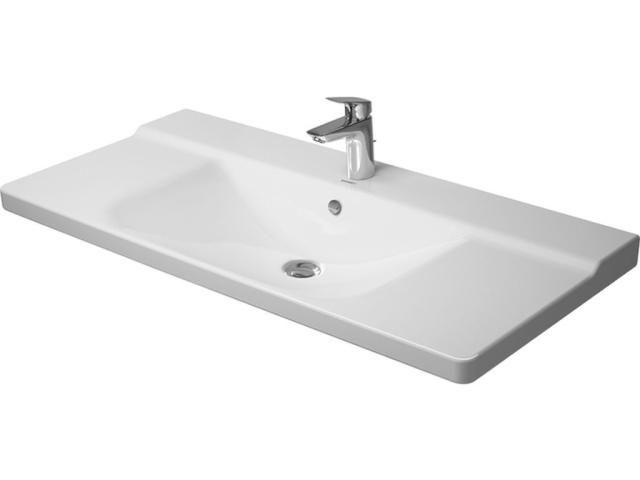Duravit P3 Comforts Möbelwaschtisch B:105cm 1 Hahnloch mittig mit Überlauf weiß 2332100000