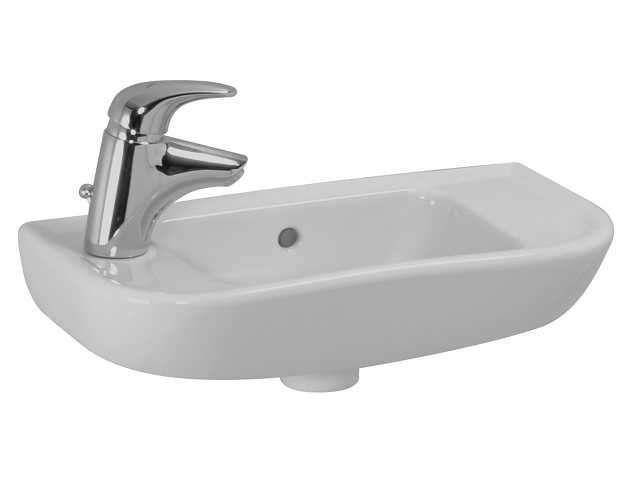 Laufen Pro Handwaschbecken B:50xT:25cm 1 Hahnloch rechts mit Überlauf weiß mit CleanCoat LCC H8169574001061