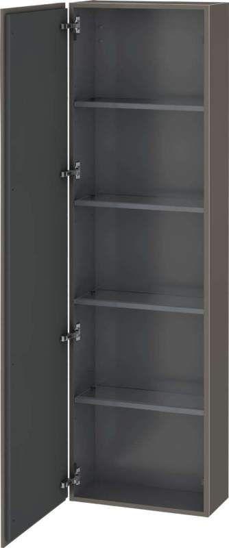 Duravit L-Cube Hochschrank B:50xH:176xT:24,3cm 1 Tür Türanschlag links flannel grey seidenmatt LC1171L9090
