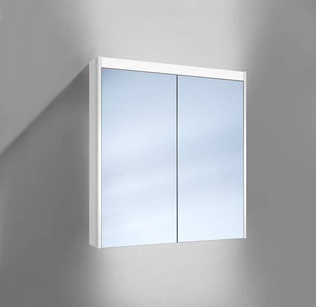 Schneider O-Line LED Spiegelschrank B:70xH:74,5xT:15,8cm 2 Türen weiß 165.270.02.02