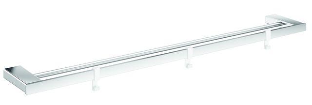 Emco loft Doppelbadetuchhalter 800mm plus 3 Haken chrom 056100180