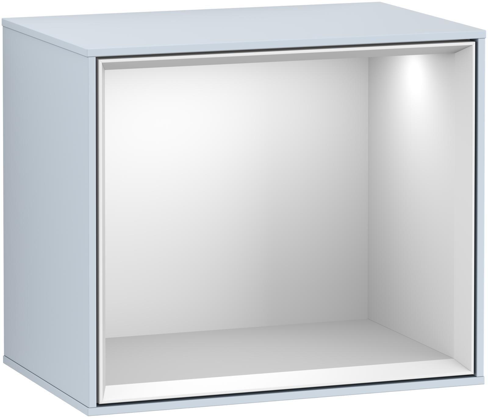 Villeroy & Boch Finion F59 Regalmodul LED-Beleuchtung B:41,8xH:35,6xT:27cm Front, Korpus: Cloud, Regal: Weiß Matt Soft Grey F590MTHA