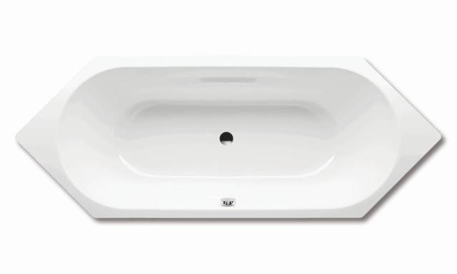 Kaldewei Ambiente VAIO DUO 6 952 Badewanne Sechseck 210x80cm alpinweiß 233200010001