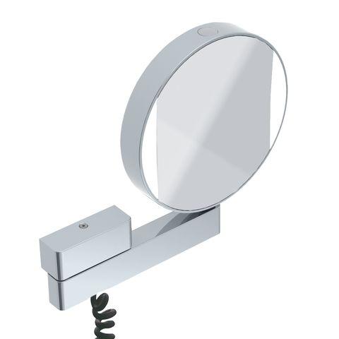 Emco LED Rasier- & Kosmetikspiegel mit Gelenkarm Vergrößerung 3- & 7-fach Spiralkabel chro mit Farbwechsel 109506018