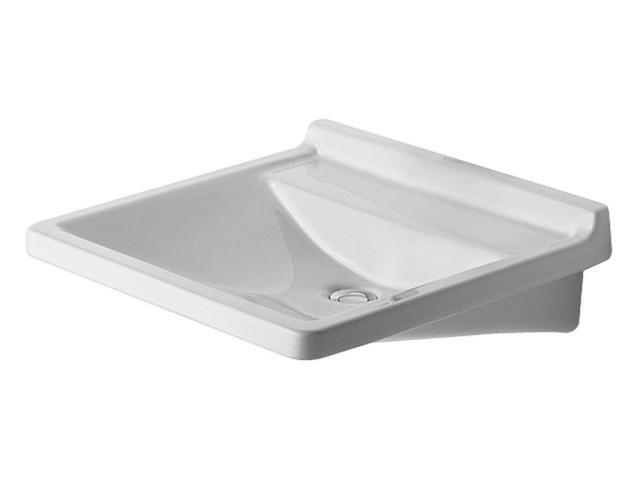 Duravit Starck 3 Waschtisch B:60xT:54,5cm 1 Hahnloch-Vorstich ohne Überlauf weiß mit Wondergliss 03126000001