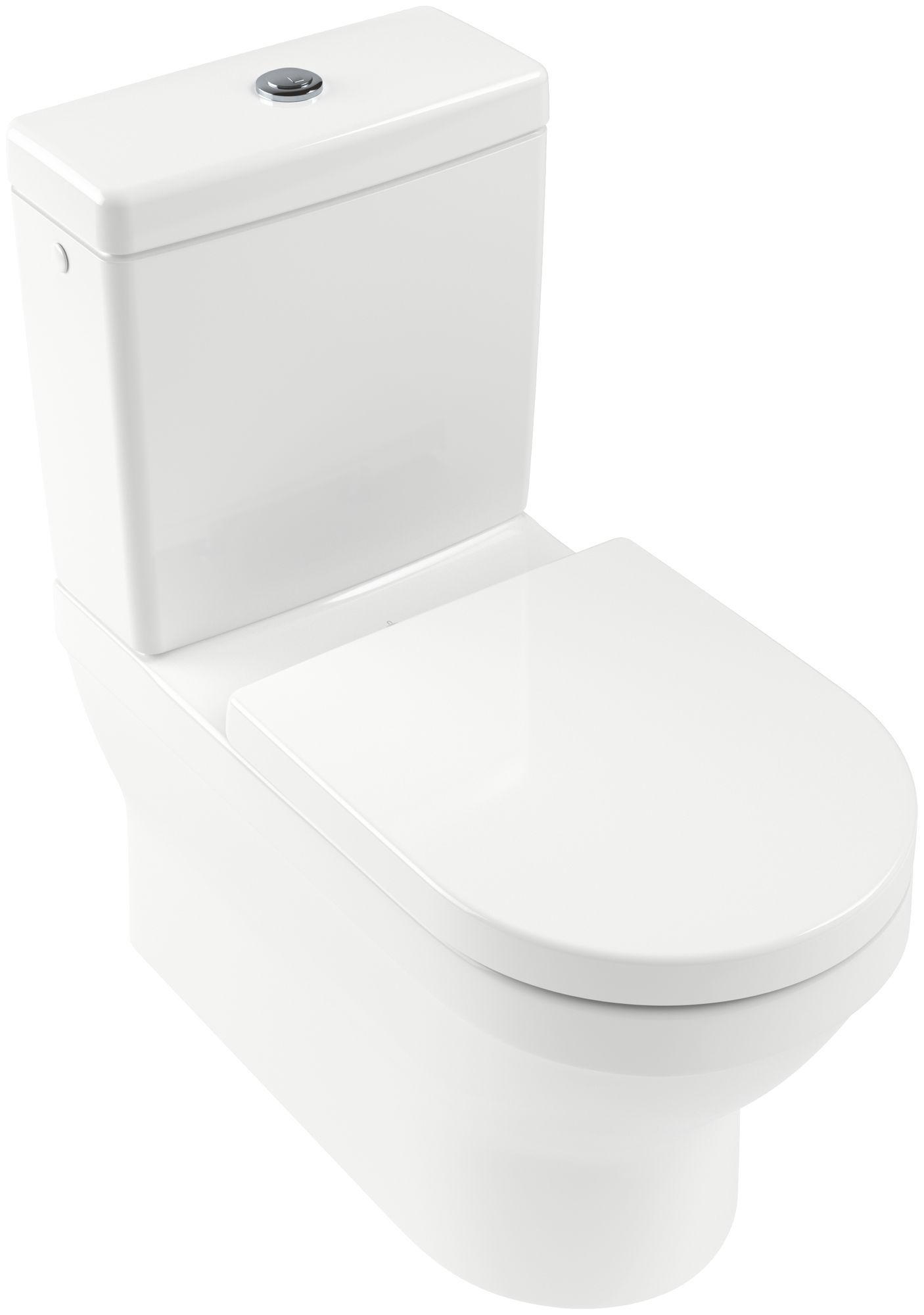 Villeroy & Boch Architectura Tiefspül-Stand-WC für Aufsatzspülkasten L:70xB:37cm Weiß Alpin mit Ceramicplus 568610R1