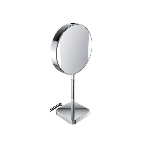 Emco LED-Rasier- & Kosmetikspiegel Standm Vergrößerung 3- & 7-fach mit Stecker chrom mit Farbwechsel 109506013