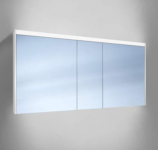 Schneider O-Line LED Spiegelschrank B:150xH:74,5xT:12,8cm 3 Türen weiß 164.150.02.02