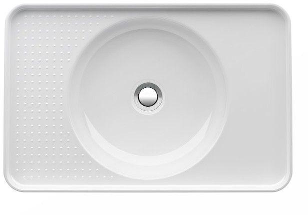 Laufen VAL Einbauwaschtisch ohne Hahnloch mit Überlauf B:55xT:36cm weiß mit CleanCoat LCC H8172814001091