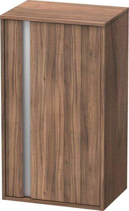 Duravit Ketho Halbhochschrank B:50xH:88xT:36cm 1 Tür Türanschlag rechts Nussbaum natur KT1266R7979