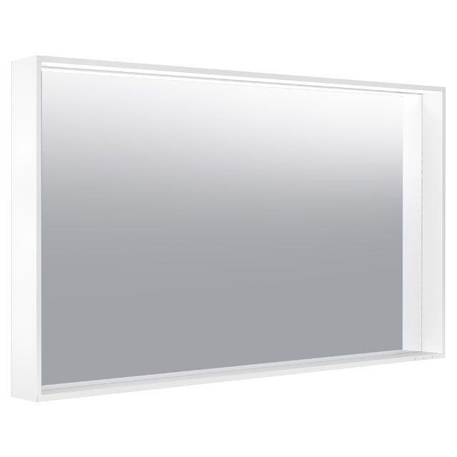 Keuco X-LINE LED-Lichtspiegel warmweiß B:120xH:70xT:10,5 cm trüffel seidenmatt 33296143500