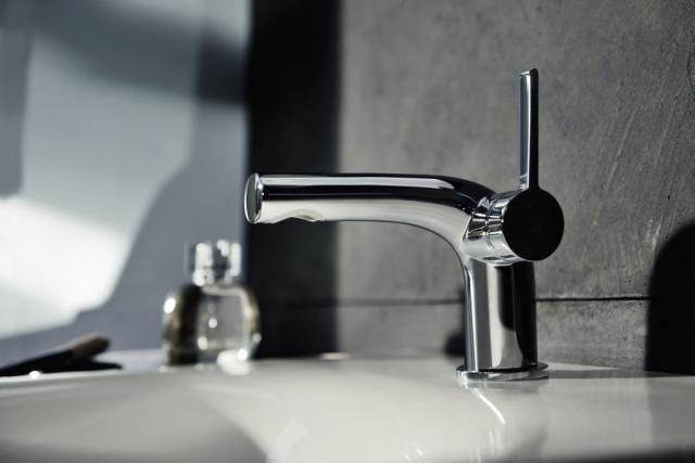 Keuco Edition 400 Einhebel-Waschtischarmatur 80 ohne Zugstangen-Ablaufgarnitur hochglanz verchromt 51504010100