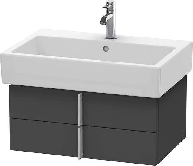 Duravit Vero Waschtischunterschrank wandhängend für 045470 B:65xH:29,8xT:43,1cm 2 Schubkästen graphit matt VE620504949
