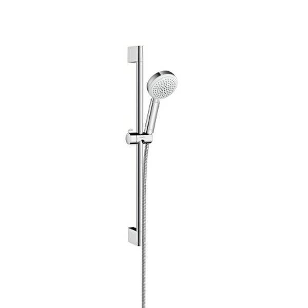 Hansgrohe Crometta 100 Vario Brauseset EcoSmart 9 l/min 65cm weiß chrom 26654400