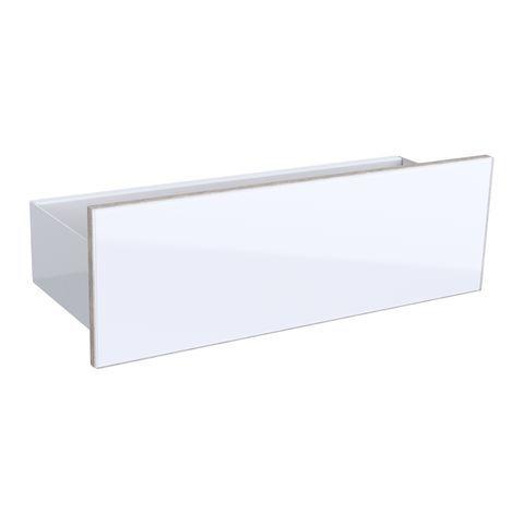 Geberit Keramag Acanto Wand-Board B:45 x H:14,8 x T:16 cm Korpus: Weiß Hochglanz Front: Glas weiß 500617012